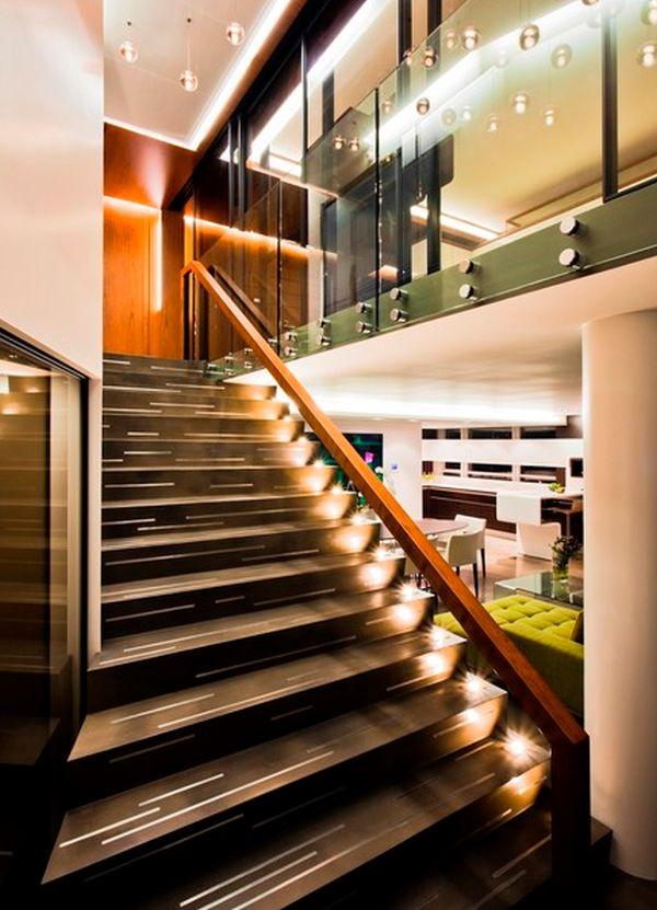 İç Mekan Merdiven Aydınlatma Fikirleri