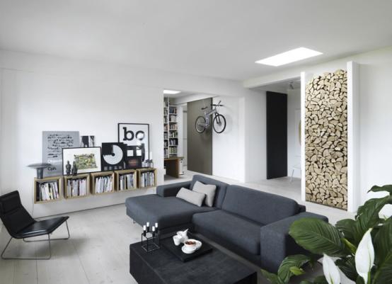 Siyah ve Beyaz Loft Ev Dekorasyonu