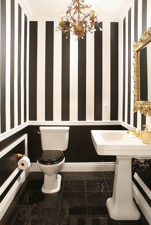Beyaz Siyah Banyo Modelleri
