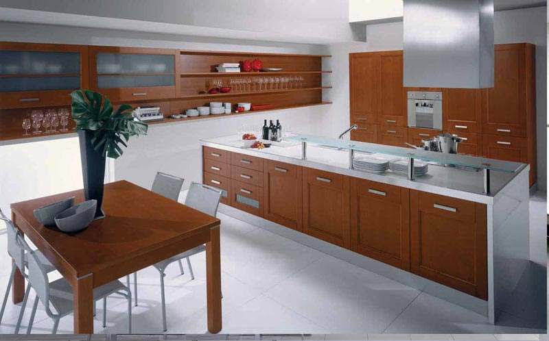 Kahverengi Mutfak Mobilyaları