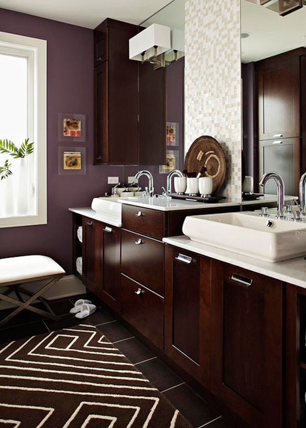 Koyu Kahverengi Banyo Dolapları