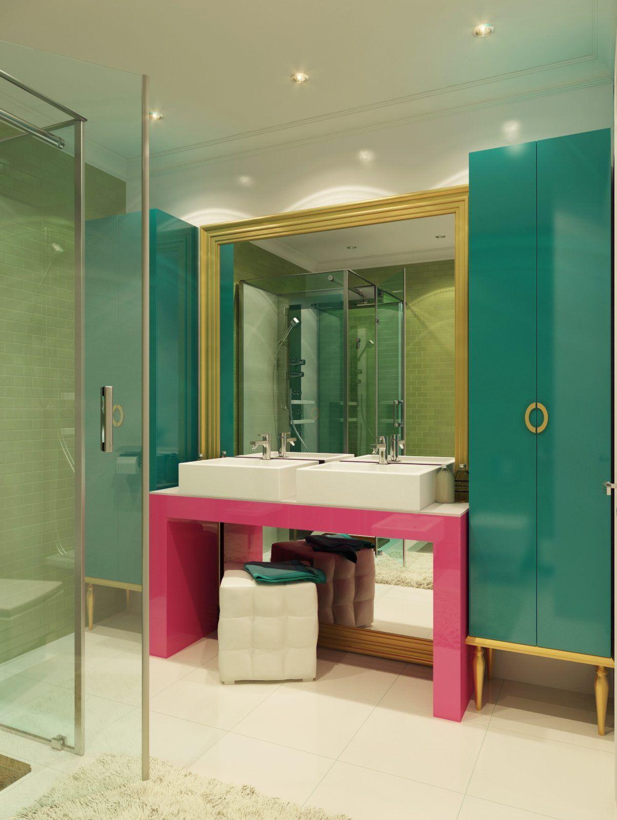 Pembe Banyo Dolapları