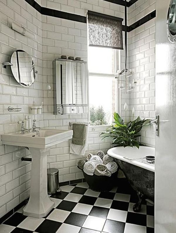 Classic Black And White Bathroom Designs : Banyo dolaplar dekorasyon