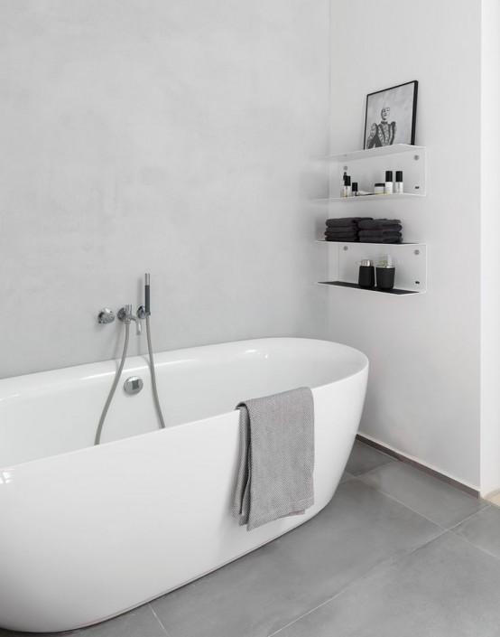 Banyoda Açık Raflar