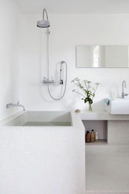 Beyaz Banyo Tasarımları