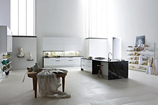 Beyaz Sİyah Mutfak Modelleri