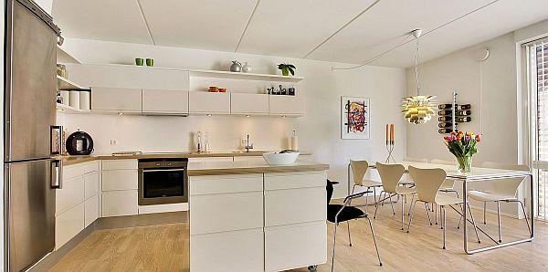 L Beyaz Mutfak Dolabı