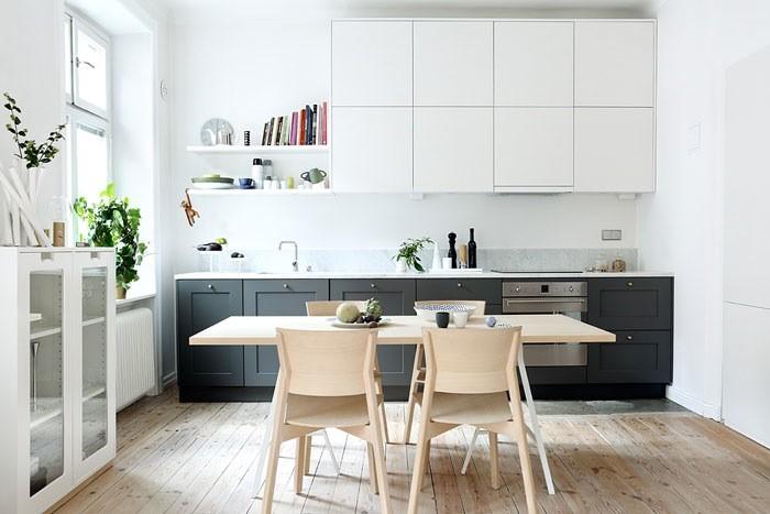 Skandinav mutfak dolaplar dekorasyon for Carrera de interiorismo