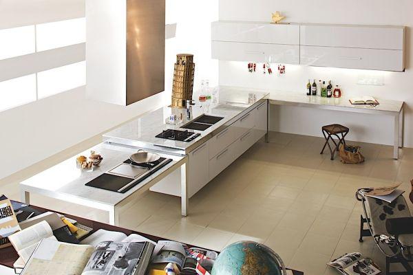 Parlak Beyaz Mutfak