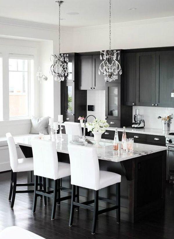 Siyah Boya Mutfak Dolabı